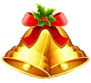圣诞节金色铃铛