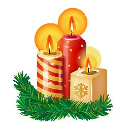 圣诞节蜡烛素材元素