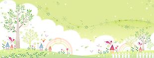 卡通元素可愛童畫背景矢量32