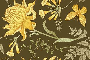 中式 紋理 花紋 圖案 背景素材