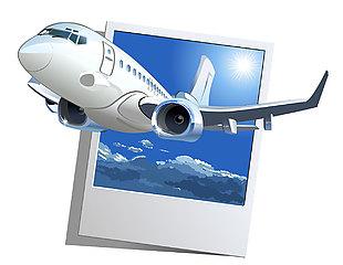 飛機卡通插畫素材