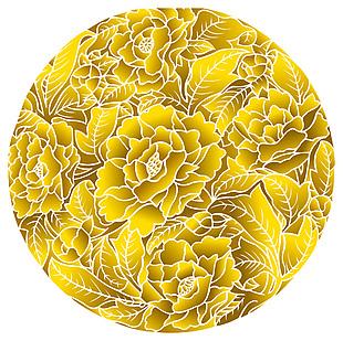 玫瑰花球矢量图