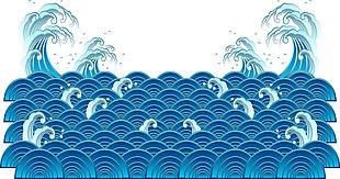 海浪矢量图素材