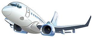 飞机卡通矢量素材