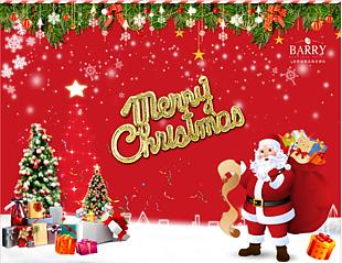 圣诞装饰背景板