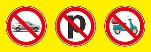 禁止停車矢量素材