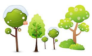 卡通树木矢量图