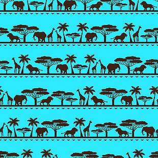非洲动物矢量图