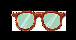 卡通可愛眼鏡素材透明通道