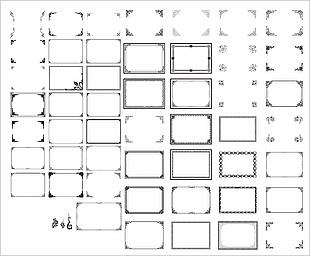 邊框花紋矢量圖