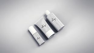 平躺化妆瓶罐包装设计模型
