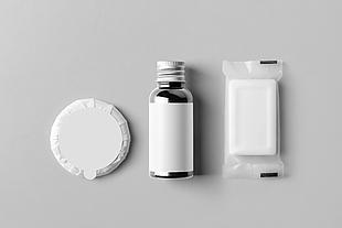 平躺肥皂瓶罐包装设计模型