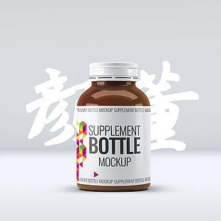 正面瓶子品牌展示樣設計PS素材模版