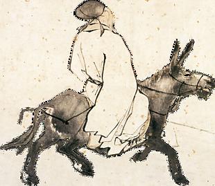騎驢古人 後製摳圖