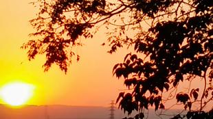 寧靜溫馨的日落時刻