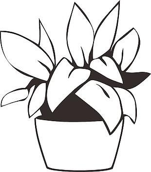 盆栽卡通矢量图
