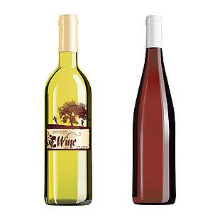 葡萄酒瓶矢量图