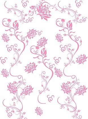 花纹手绘矢量素材