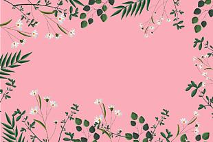 水彩的花 叶子 水彩花的自然 春