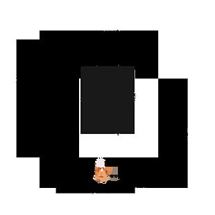 水墨佛字圓框