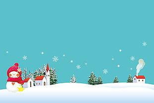 冬季插畫素材