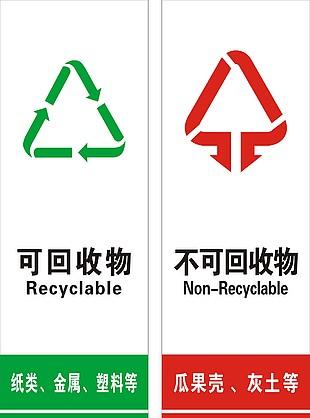 垃圾分類提醒貼紙