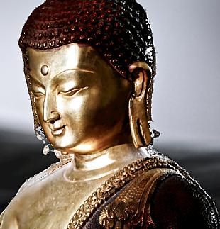 金銅佛像半身