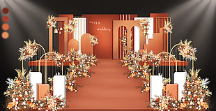 簡約婚禮舞臺設計