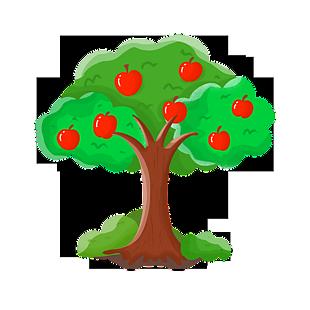 碩果累累的蘋果樹