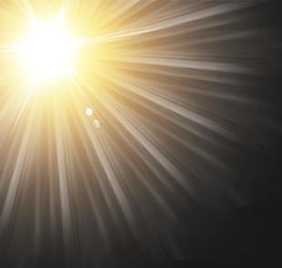 耀眼的太陽光