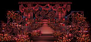 紅色主題婚禮