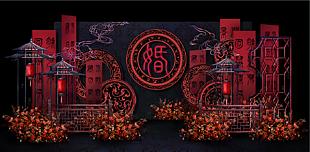 紅色主題中國風