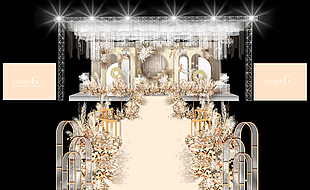 香檳色舞臺