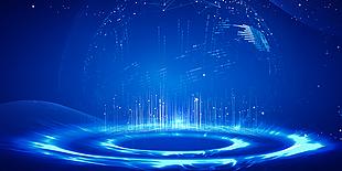 蓝色科技光效背景图