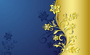 矢量金色花紋