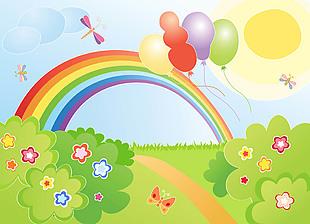 兒童彩虹背景圖