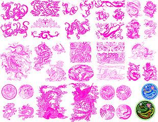 各種龍紋理