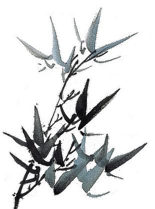 中國風工筆畫水墨竹子PNG免摳素材
