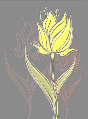 手繪花卉矢量圖