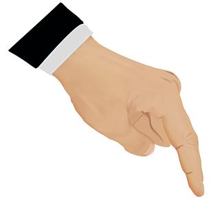 手指按下真實