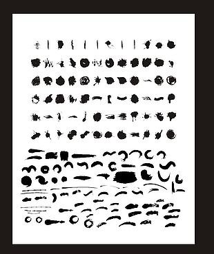 毛筆刷矢量描繪筆刷