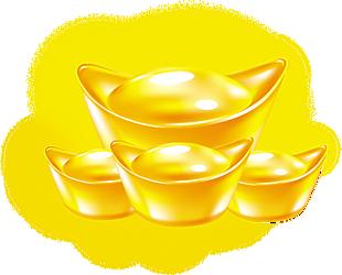 素材 金子 聚寶盆