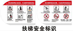 公共安全扶梯警示牌