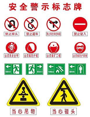 安全警示標示牌