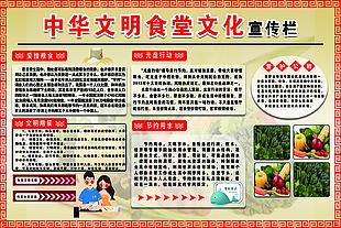 中華文明食堂文化宣傳欄 敬老院 圖版