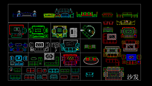 沙發CAD平面