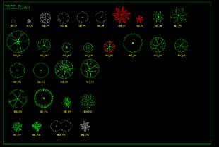 綠植平面圖庫