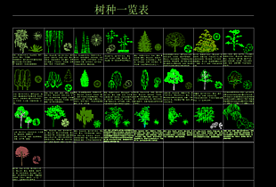 樹形CAD圖庫