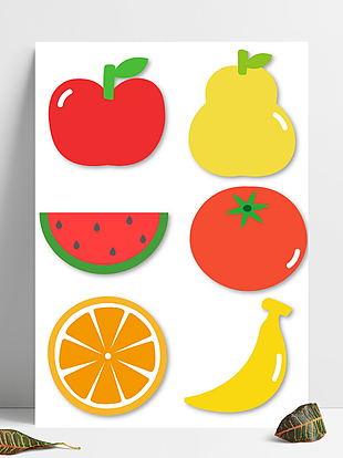 清新水果便签边框元素
