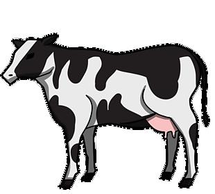 卡通手绘奶牛